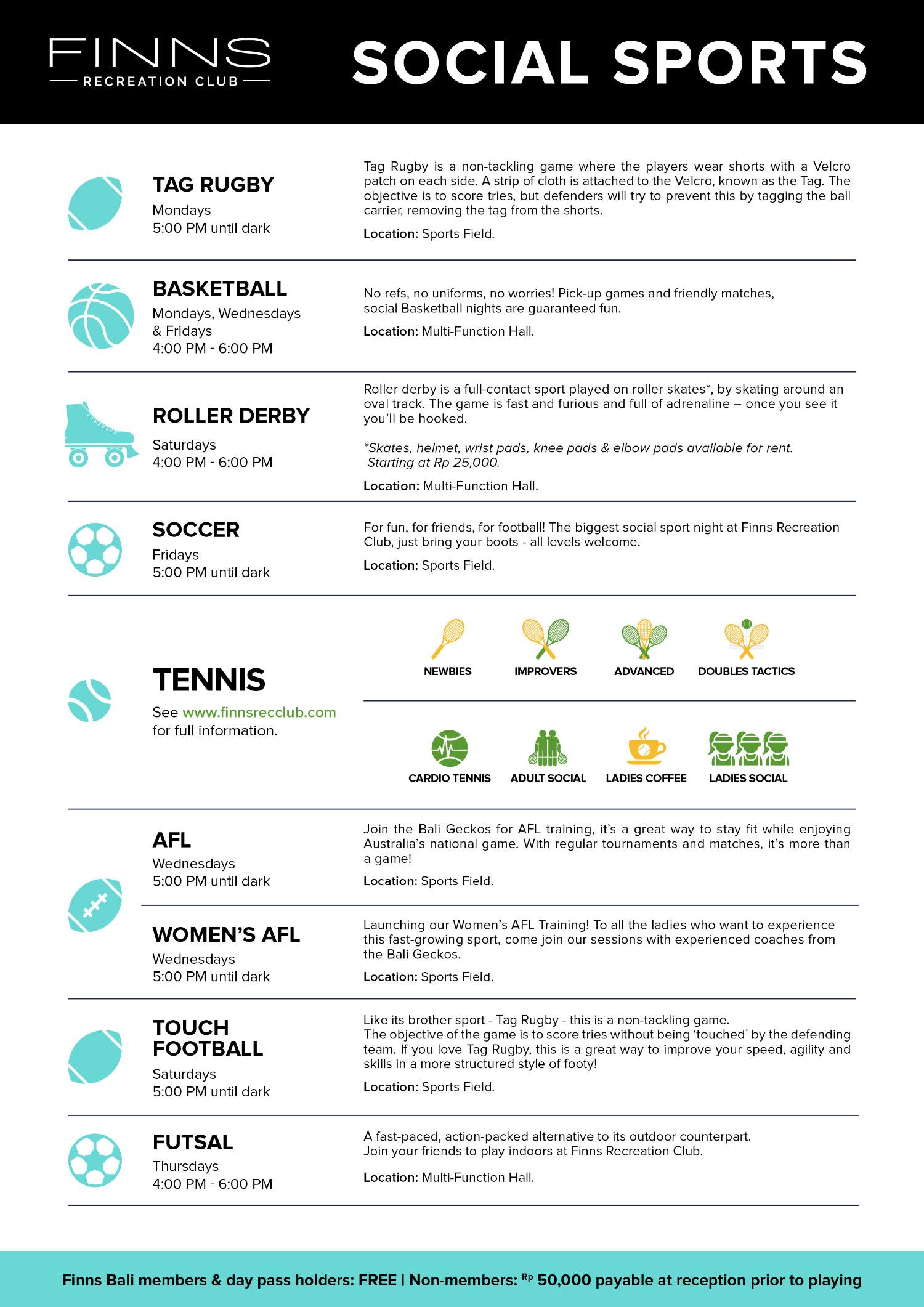 Social Sport Calendar