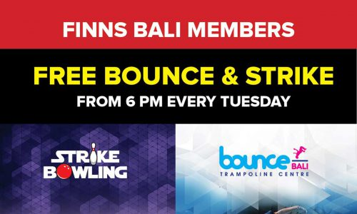 Free Bounce and Strike at Finns Recreation Club Bali