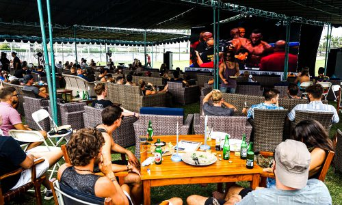 Mayweather V's McGregor at Finns Recreation Club