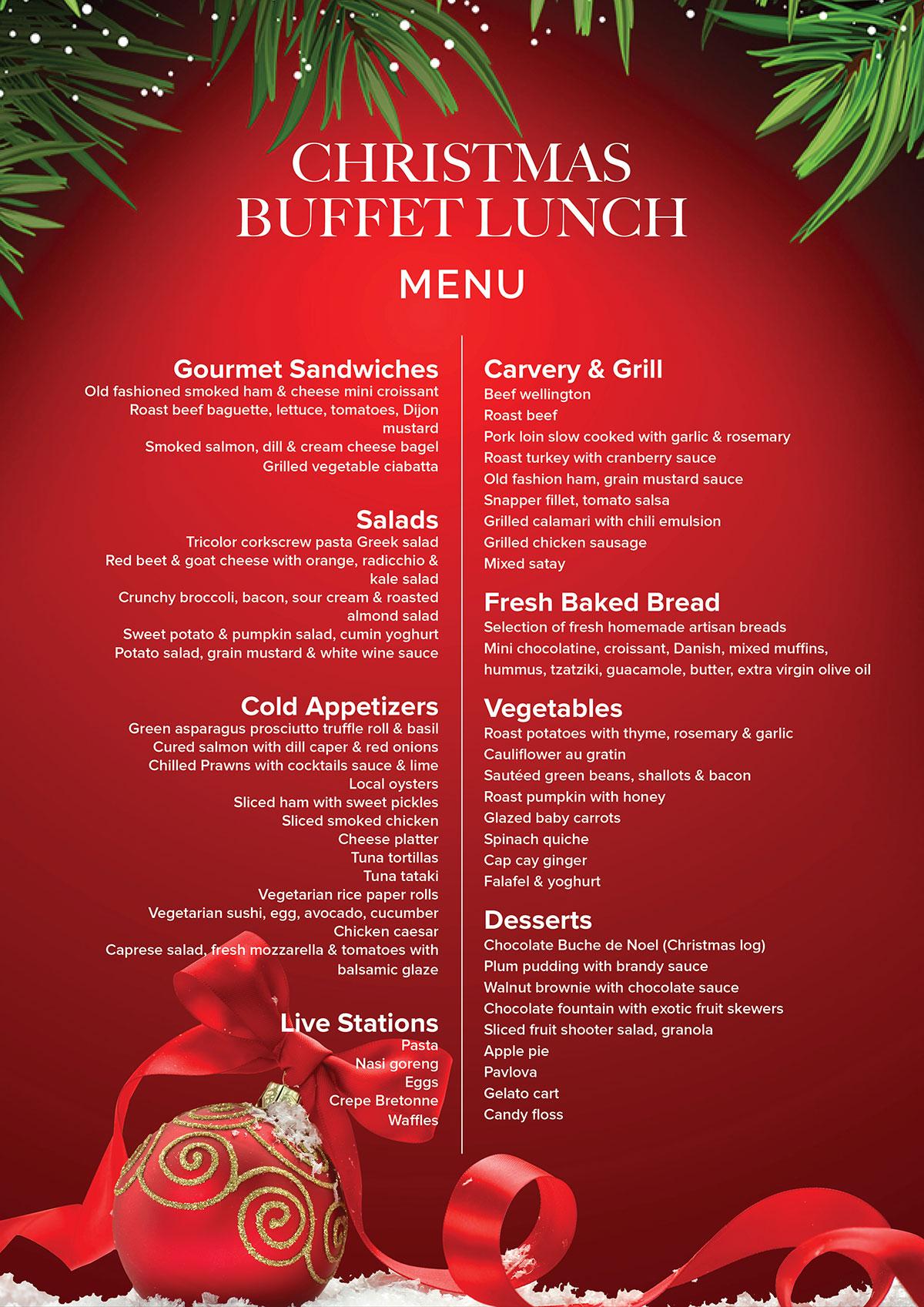 Christmas Day Buffet Lunch - Finns Recreation Club