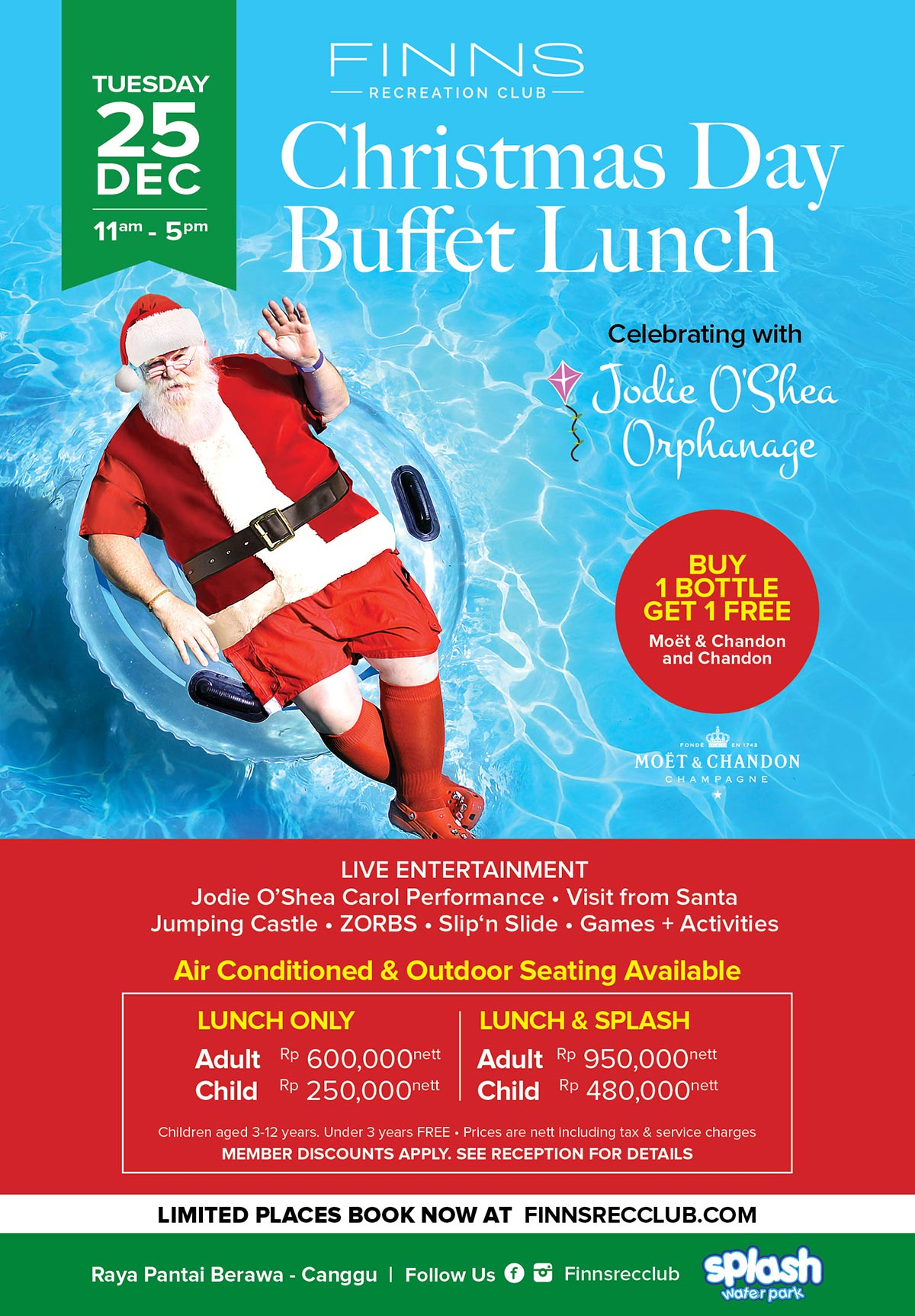 Christmas Day Buffet Lunch Finns Recreation Club 1 Get Free