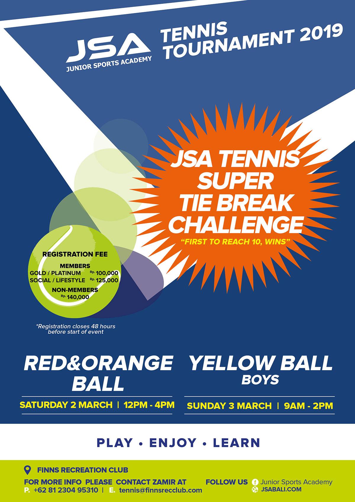 JSA Tennis Tie Break Challenge March