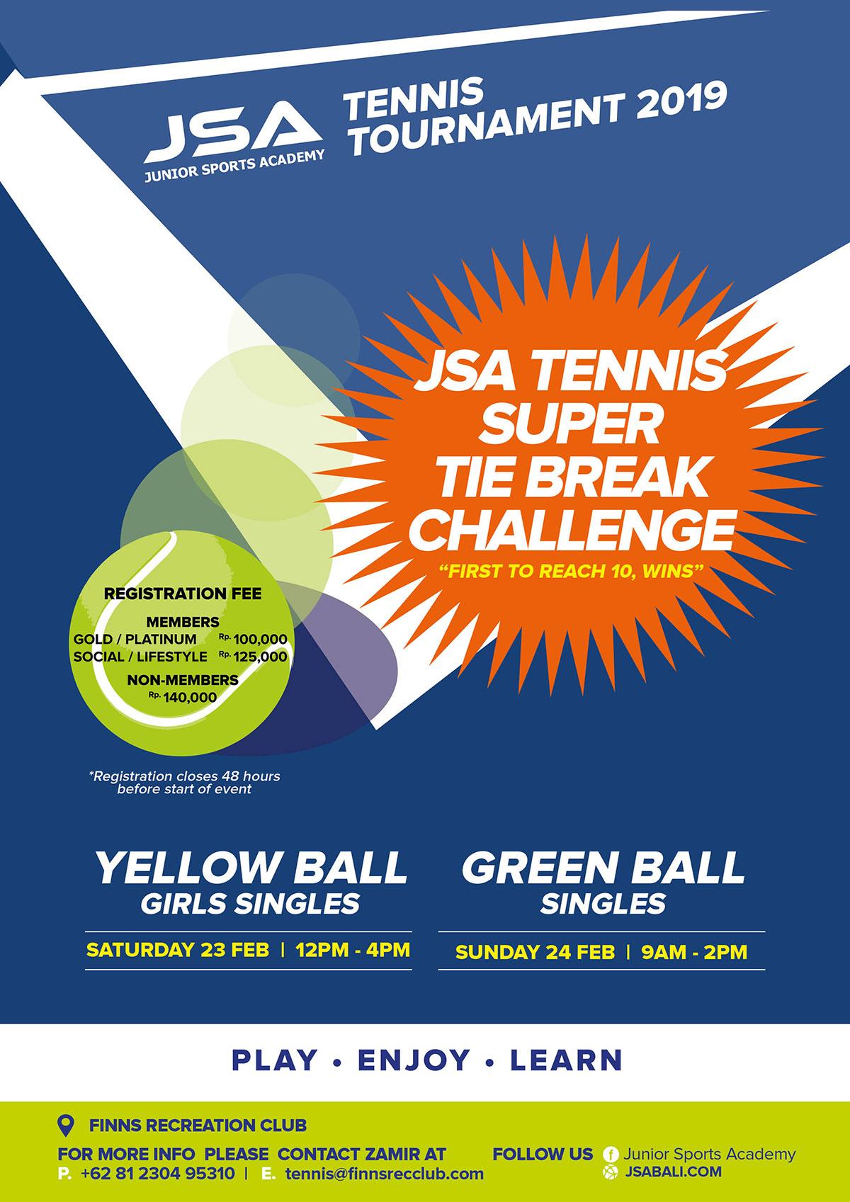 JSA Tennis Tie Break Challenge February