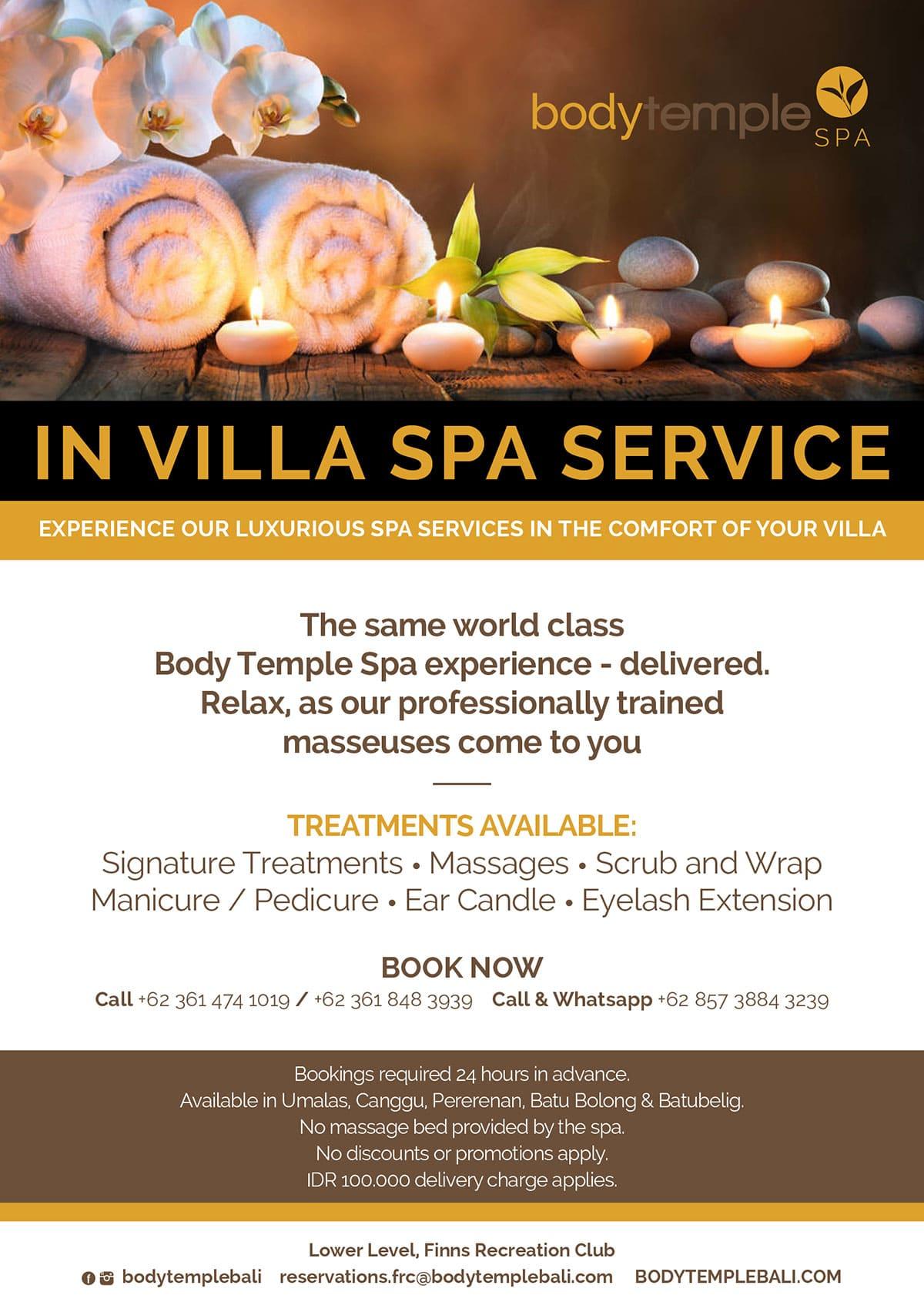 In Villa Spa Service