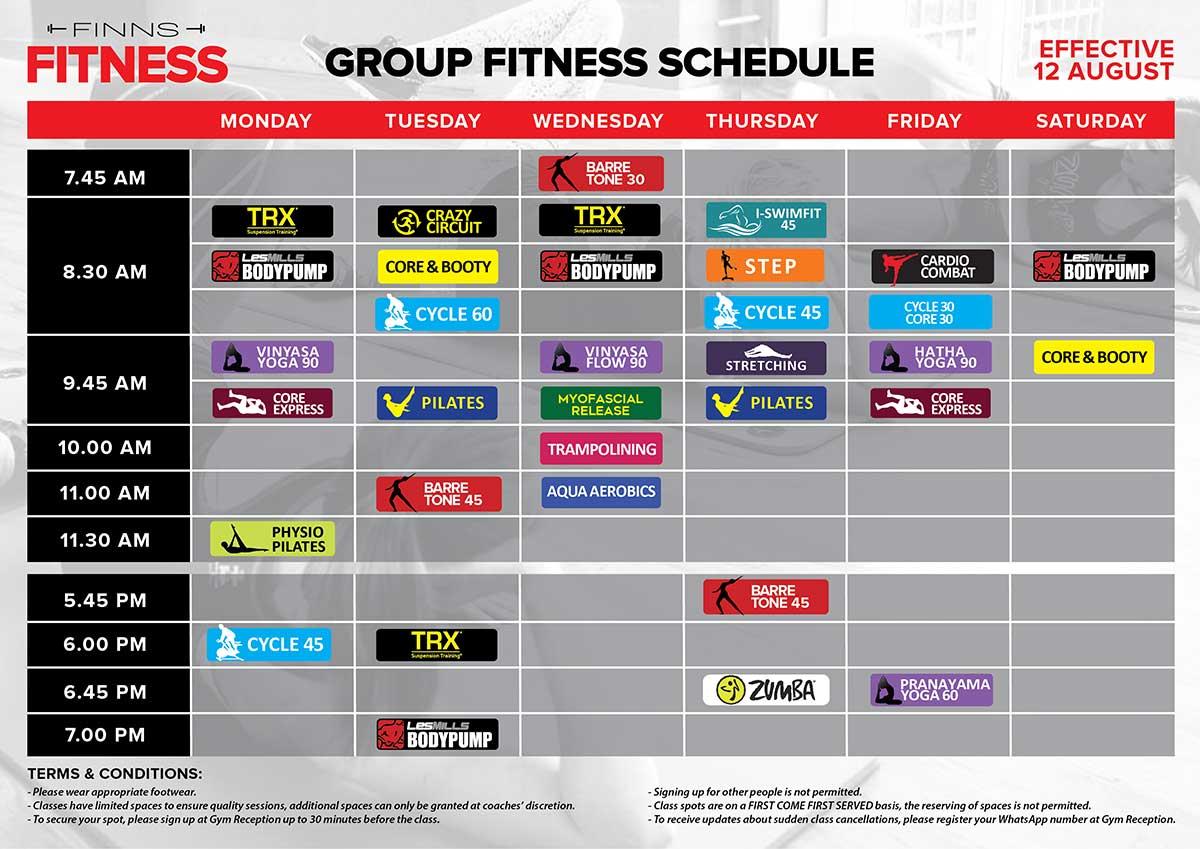 Class Timetable - Finns Recreation Club