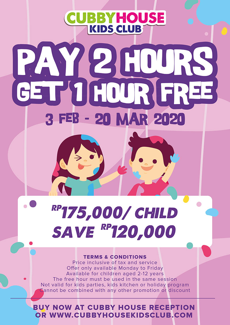Buy 2 Hours Get 1 Hour Free